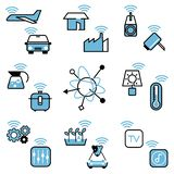 Internet rzeczy ikony projekta ilustracji wektorowy set obrazy stock