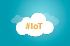 Internet rzeczy IoT pomysłu chmury graficzny symbol Zdjęcia Stock