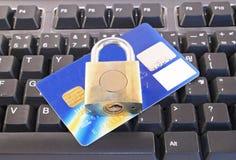 internet säkrar shopping Arkivfoto