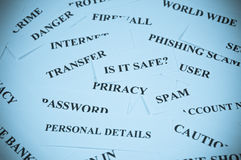 Internet safety concept Stock Image