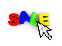 Internet sale Stock Image