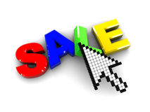 Internet sale Stock Photography