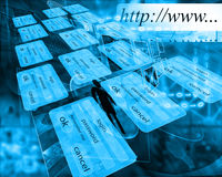 Internet-Samenvatting Stock Afbeeldingen