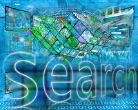 Internet-Samenvatting Stock Foto's