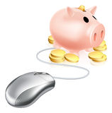 Internet saving concept Stock Photo