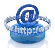 Internet scene Stock Image