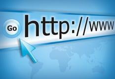Internet schließen an Lizenzfreie Stockbilder