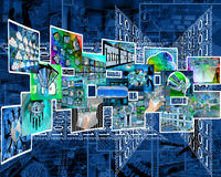 Internet-Schnittstellenbilder Stockfotos