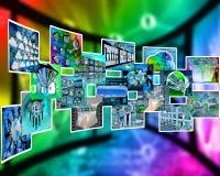 Internet-Schnittstellenbilder Stockfoto
