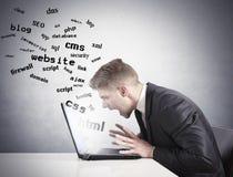 Internet-Schwierigkeit Stockbild
