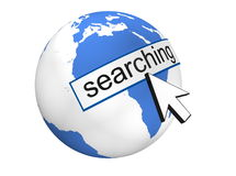 Internet Search. Concept of Internet Search in 3D Royalty Free Stock Photo