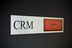 Internet search bar with phrase CRM Royalty Free Stock Photography