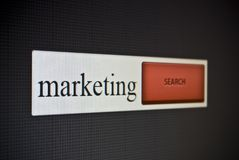 Internet search bar with phrase marketing Royalty Free Stock Photography