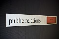 Internet search bar with phrase public relations Stock Photos