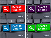 Internet search engine button stock photo