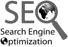 Internet-Search Engine des Vergrößerungsglas-SEO lizenzfreies stockfoto
