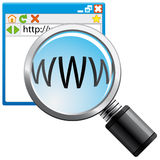 Internet search icon Royalty Free Stock Photos