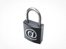Internet secure. Internet security padlock locked Royalty Free Stock Photography