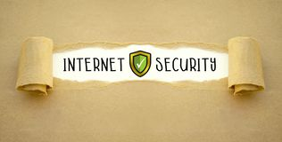 Internet security and anti virus protection stock images