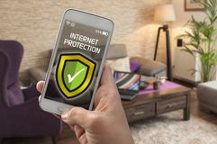 Internet security and anti virus protection stock photo