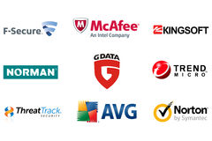 Internet security antivirus Brands Logos 2 Royalty Free Stock Images