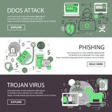 Internet Security Banner Set Royalty Free Stock Image