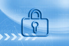 Internet security business background concept in blue color. Security business background concept in blue color Royalty Free Stock Photo