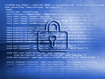 Internet security business background concept in blue color. Security business background concept in blue color Stock Image