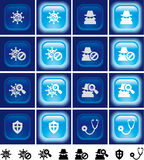 Internet security buttons with light effect Stock Images
