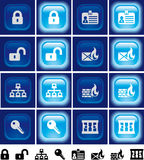 Internet security buttons with light effect Royalty Free Stock Photo