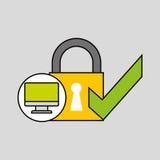 Internet security check computer protection Stock Photos
