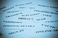 Internet security collage Stock Images