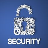 Internet Security Concept. Royalty Free Stock Photo