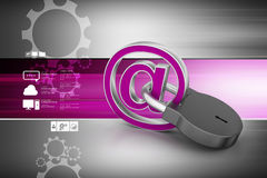 Internet security concept. In color background Royalty Free Stock Image