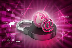 Internet security concept. In color background Stock Photo