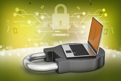 Internet security concept. In color background Royalty Free Stock Photos