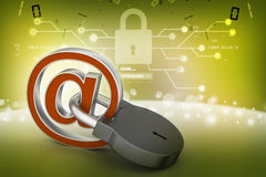 Internet security concept Royalty Free Stock Image