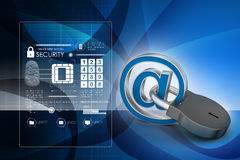 Internet security concept. In color background Royalty Free Stock Images