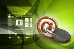 Internet security concept. In color background Stock Photos