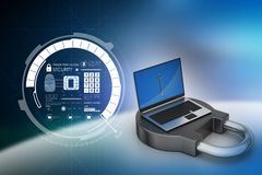 Internet security concept Stock Image