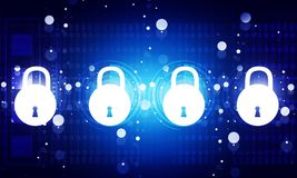 Internet security concept stock photography