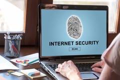 Internet security concept on a laptop screen. Laptop screen displaying an internet security concept Royalty Free Stock Photos