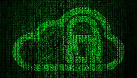 Internet Security concept with lock and cloud symbol Royalty Free Stock Image