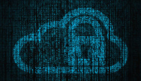 Internet Security concept with lock and cloud symbol Royalty Free Stock Images