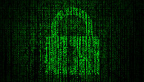 Internet Security concept with lock symbol Royalty Free Stock Images