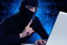 Internet security concept . Mixed media Royalty Free Stock Image