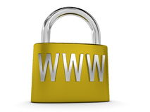 Internet security concept with padlock Royalty Free Stock Photography
