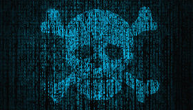 Internet Security concept with skull Stock Photography