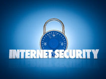 Internet Security. 3d render of a internet security concept Stock Photography
