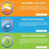 Internet security, data protection and data exchange design concept Royalty Free Stock Photo